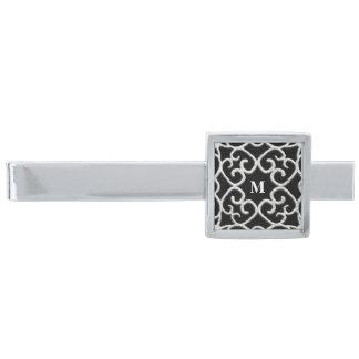 Rullakrullningen försilvrar Filigree design 2 Slipsnål Med Silverfinish