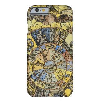 Rullar himmelsk astrologi för vintage, Zodiac, Barely There iPhone 6 Skal