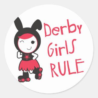 Rulle Derby - Derby flickor härskar Runt Klistermärke