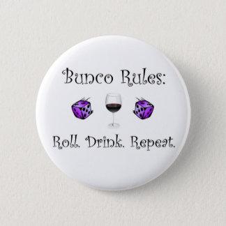 Rulle. Drink. Upprepning Standard Knapp Rund 5.7 Cm