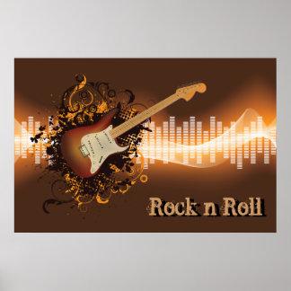 Rulle för sten N - musik Poster