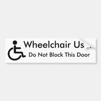 Rullstolanvändaren - inte gör kvarterdörren bildekal