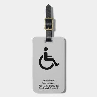 Rullstolen tar fram - handikappstolsymbol bagagebricka