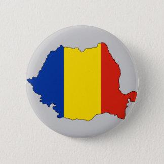 Rumänienflaggakarta Standard Knapp Rund 5.7 Cm