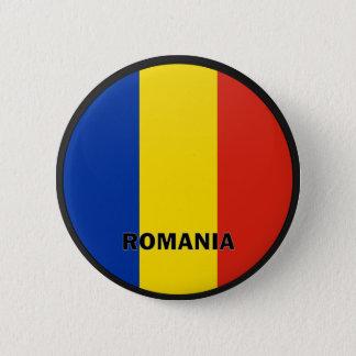RumänienRoundel kvalitets- flagga Standard Knapp Rund 5.7 Cm