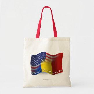 Rumänsk-Amerikan som vinkar flagga Tygkasse