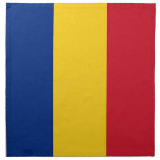 Rumänsk flagga på den MoJo servetten Tygservett