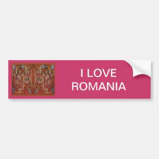 Rumänsk needlework för vintage, broderi bildekaler