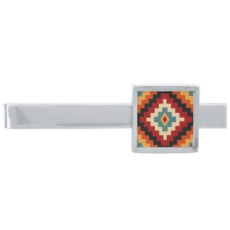 Rumänska motiv slipsnål med silverfinish