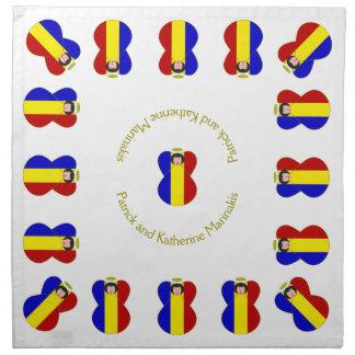 Rumänskt hår för ängelflaggasvart tygservett