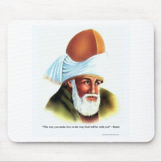 """Rumi """"gör kärlek"""" att citera på musmatta"""