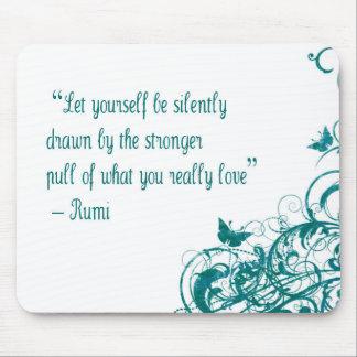 Rumi kärlekcitationstecken musmatta