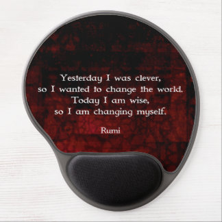 Rumi vishetcitationstecken om ändring & Cleverness Gel Musmatta