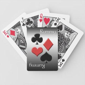 Rummy-Silver metallLook Spelkort