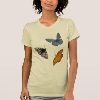 Rund hals för 4 fjärilar tee