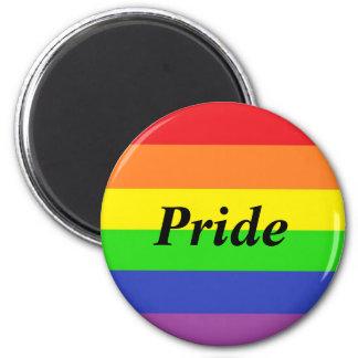 Runda för gay prideflaggamagnet magnet