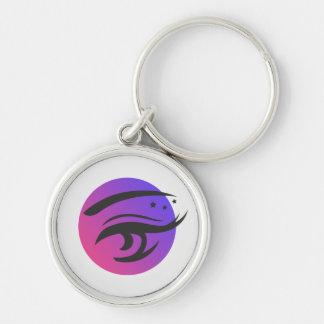 Runda Keychain för logotyp för konstnär för Rund Silverfärgad Nyckelring