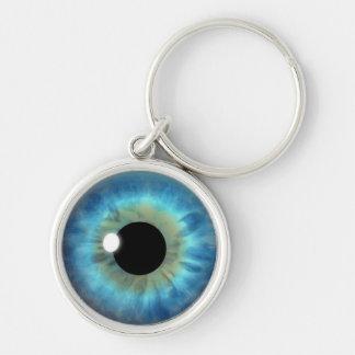 Runda Keychains för coola för ögonglob för Rund Silverfärgad Nyckelring