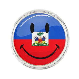 Runda som ler haitier flagga rockslagsnål