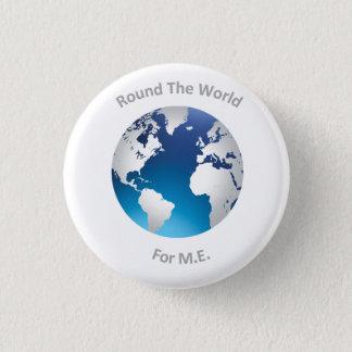 Runda världen för M.E. - knäppas Mini Knapp Rund 3.2 Cm