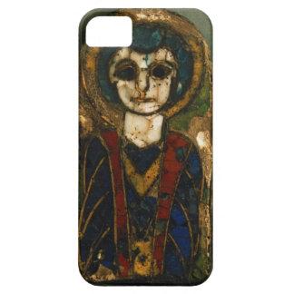 Rundad platta och att visa Kristus eller en saint, iPhone 5 Case-Mate Skal