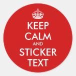 RundaKeepCalm klistermärkear | Personalizable