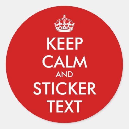 RundaKeepCalm klistermärkear | Personalizable Runda Klistermärken