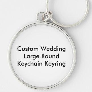 RundaKeychain för personligt bröllp stor Nyckelring