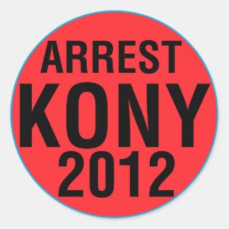 Rundaklistermärke för gripande KONY 2012 Runt Klistermärke