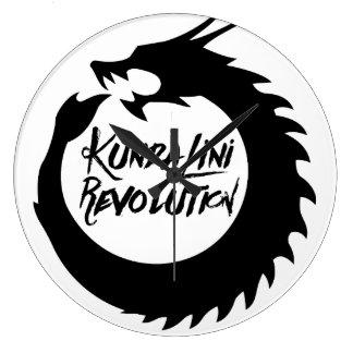 Rundan för draken för den Kundalini Stor Rund Klocka