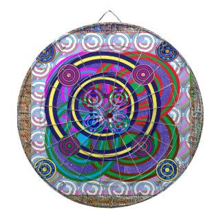 Rundan för leken för Hula ringflickor cirklar Piltavla