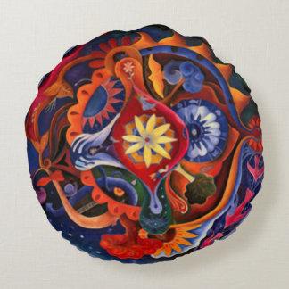 Rundan för mandalaen för konst för rund kudde