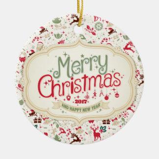 Rundaprydnad för god jul 2017 julgransprydnad keramik
