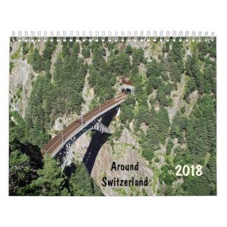 runt om den Schweitz 2018 kalendern Kalender