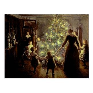 Runt om julgranen vykort