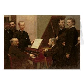 Runt om pianot 1885 hälsningskort