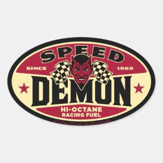 Rusa demonen 003B Ovalt Klistermärke