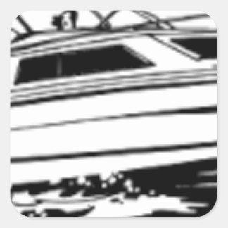 Rusa fartygkryssaren fyrkantigt klistermärke