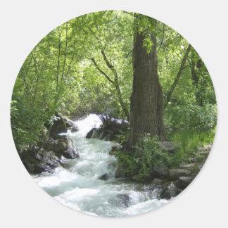 Rusa floden runt klistermärke
