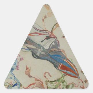 Rusa kulan triangelformat klistermärke