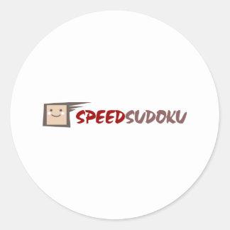 Rusa Sudoku Runt Klistermärke