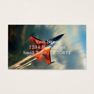 Rusar det militära flygplan för kämpejeten visitkort