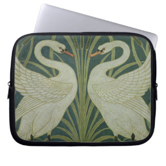 """Rusar Iris svanen, och"" tapetdesign Laptop Sleeve"