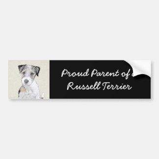 Russell Terrier (busen) Bildekal