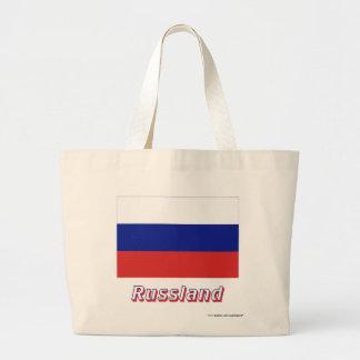 Russland Flagge mit Namen Tygkassar