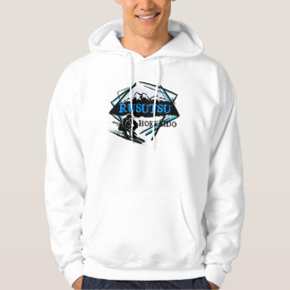 Rusutsu HokkaidoJapan blått skidar logotyphoodien Munkjacka
