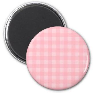 Rutig mönsterbakgrund för Retro rosa Gingham Magnet
