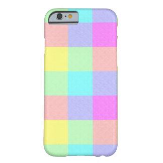 Rutig pastellfärgad regnbåge barely there iPhone 6 skal