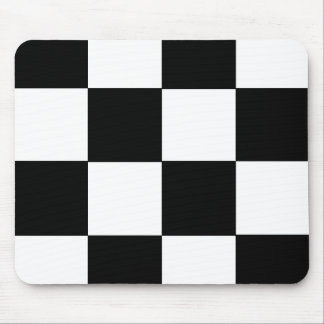 Rutig svart & vit musmatta