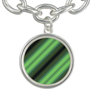 Rutiga rör för grönt & för gult av Kenneth Yoncich Berlockarmband